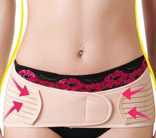 Csmarte Women's Stretchable Belly Belt Support Fat Burner Weight Loss Brace Tummy Trimmer Maternity Belly Band Abdominal Slim Belt - Hip Belt