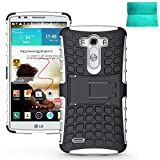 LG G3 Case,Moment Dextrad [Non-Slip][Perfect Fit][Stand Function] Hybrid Dual Layer Armor Defender Protective Cover Only for LG G3 5.5 inch *Three Months Warranty* (White)