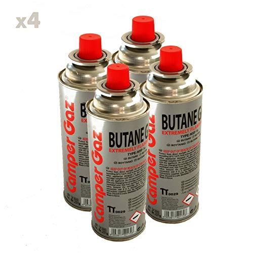Pack de 4 cartouche gaz Camper Gaz 227gr butane - bouteille de gaz à baillonnette 227 gr - bonbonne pour réchauds camping Providus