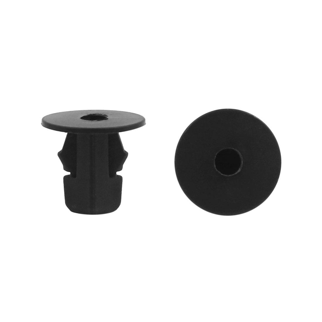 sourcingmap 10 Pcs Plastic Rivet Trim Fastener Moulding Clips for 6mm Dia Hole