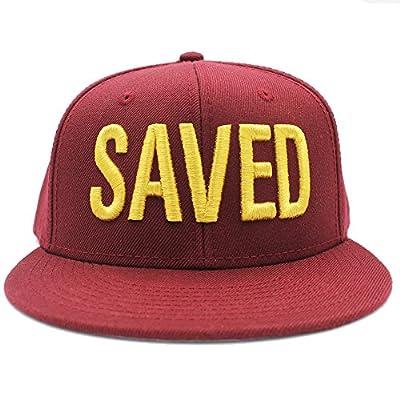 Risen Apparel Saved Burgundy Christian Snapback by