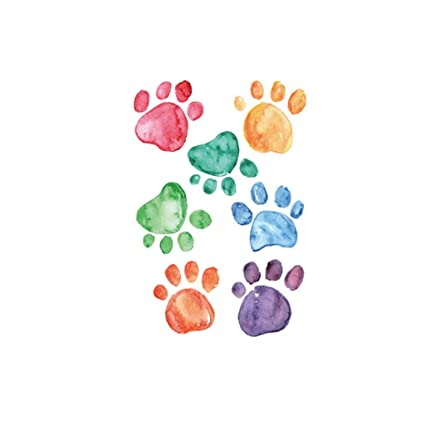 9 pairs Wall Sticker Home Decor Bedroom Living Room Animal Cat Dog Paw Prints