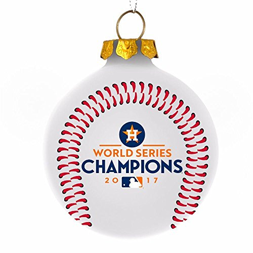 Forever Houston Astros 2017 World Series Champions Christmas Holiday Glass Ball - Series World Glass Champions
