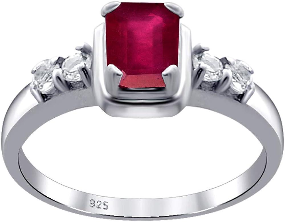 Elegante Anillo En Amatista,Topacio,Granate,Rubí,Zafiro Plata De Ley 925 Orchid Jewelry