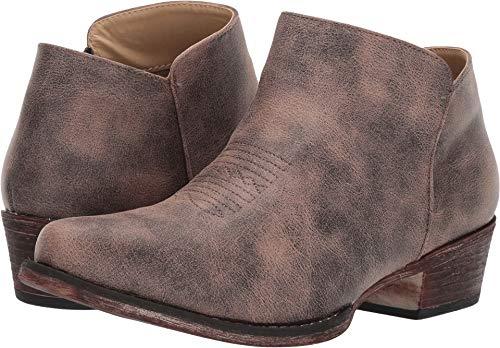 Roper Women's Sofia Snip Toe/Brown Faux Leather 9 M US