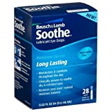 Bausch And Lomb Soothe Lubricant Preservative Free Eye Drops, 28 each by Bausch And Lomb (Pack of 3)