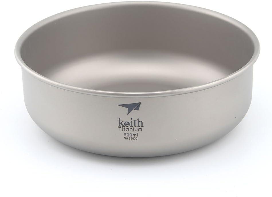 Keith 300/ml ~ 900ml titanio cuenco cuenco de cuenco de camping al aire libre