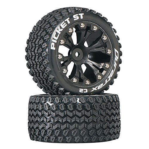 cket RC Staduim Truck Tires with Foam Inserts, C2 Soft Compound, ST 2.8