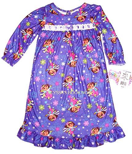 Explorer Nightgown - Dora the Explorer ~Winter Wonderland Flannel Gown~ Girls 2T