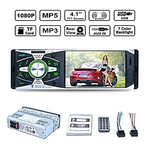 Naladoo 4 Inch 1080P MP5 Stereo Player TFT Screen AUX FM Radio Support USB&TF Card 7 Color - City Navigator Dvd