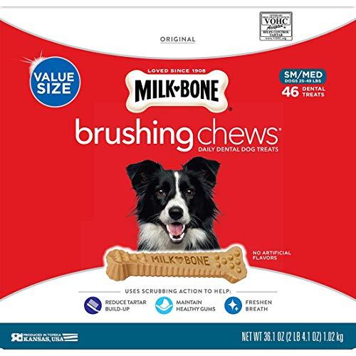 MILK-BONE Brushing Chews (Small/Medium) (46 Treats Value Size)
