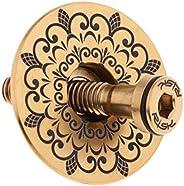 Prettyia Light Weight Bicycle Headset Cap Dustproof MTB Bike Stem Cover Screw Set Titanium Alloy