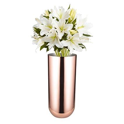 Amazon Feyarl Flower Vase Decorative Vase Stainless Steel For