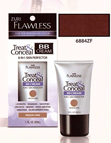 Zuri Flawless Treat & Conceal BB Cream 8-in-1 Skin Perfector - Dark