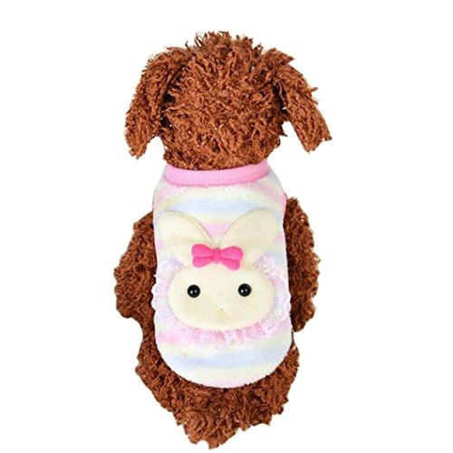 Puppy Clothes,Neartime Cute Rabit Style Dog Vest Yorkie Jacket Pet Outfit (S) (Pumpkin Outfit For Dogs)