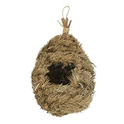 Hanging Handmade Grass Roosting Pockets Bird house Shelter by Flying Spoon