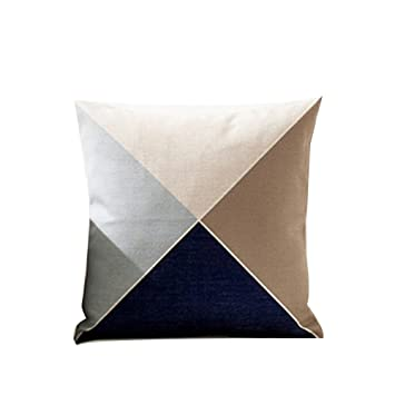 Amazon.com: tellw Nordic colisión Color geometría almohada ...