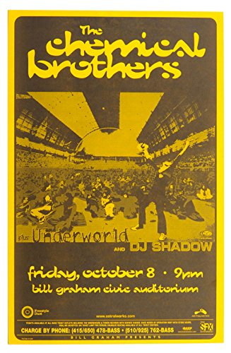 The Chemical Brothers Poster Underworld DJ Shadow 1999 Oct 08