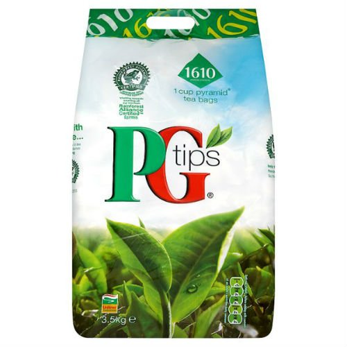 PG Tips 1610 1 Cup Pyramid Tea Bags 3.5Kg Case Of 2 by PG Tips