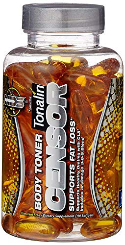 NDS Nutrition Censor - Fat Loss and Body Toner with CLA, Fish Oil, Safflower and Omega 3-6-9 Blend - Dietary Supplement for Improved Energy, Metabolism and Health - 90 Softgels