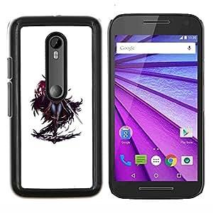 YiPhone /// Prima de resorte delgada de la cubierta del caso de Shell Armor - personaje del juego espadachín blanco Mujer - Motorola MOTO G3 / Moto G (3nd Generation)