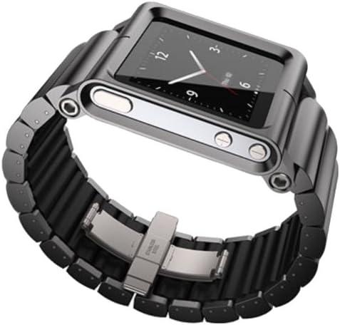 Amazon Com Lunatik Lynk Reloj Correa De Muñeca Para Ipod Nano 6 G Color Negro Negro