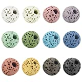 BEADNOVA 8mm Colorful Lava Rock Stone Gemstone semi precious stone Beads Round Loose Beads for Jewelry Making Findings Accessories (240pcs, Assorted Colors Box Set)