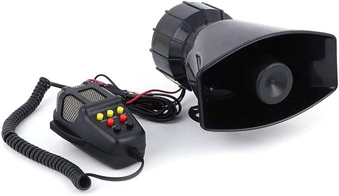 Abilieauty 12V 100W 7 Sonido Alto Coche Aviso Alarma de Seguridad ...