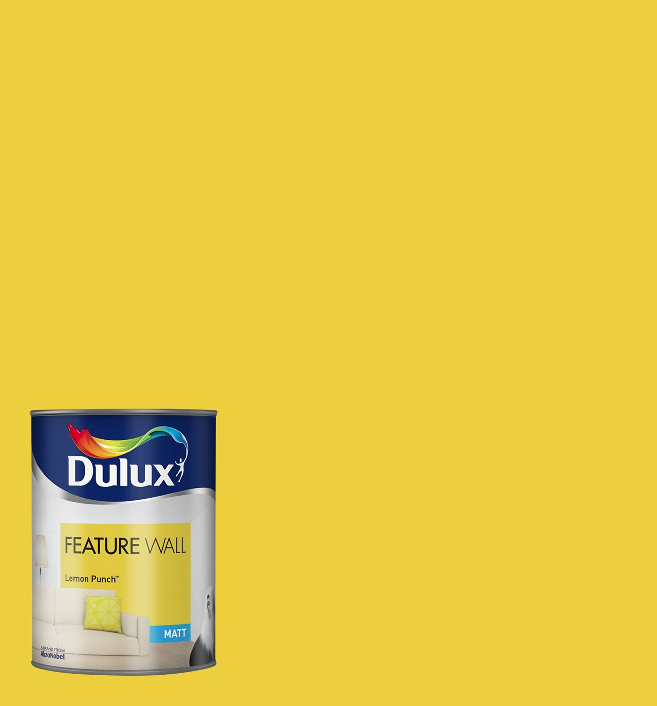 Dulux Matt Paint for Walls Feature, 1.25 L - Lemon Punch: Amazon.co ...