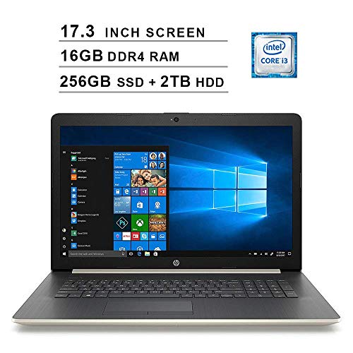 2020 Newest HP Pavilion 17.3 Inch HD Laptop (8th Gen Inter Core i3-8130U up to 3.4GHz, 16GB DDR4 RAM, 256GB SSD (Boot…