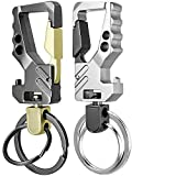 KEKU 2 Pack Car Key Chain Bottle Opener Keychain for Men and Women
