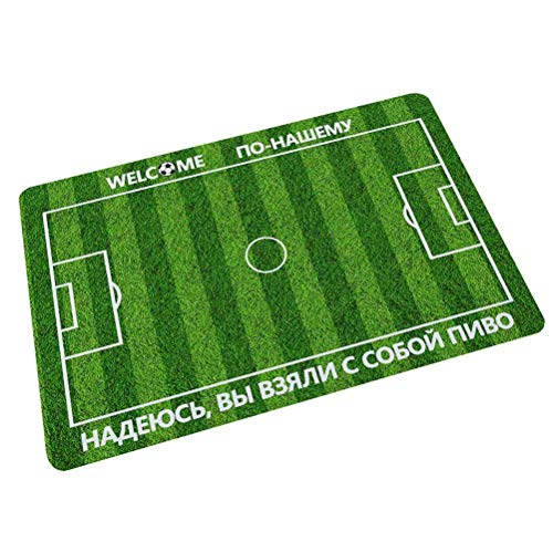 (ALDECOR Russian Football Field Door Mat Machine Washable Indoor Outdoor Kitchen Entry, Interior Entry Way)