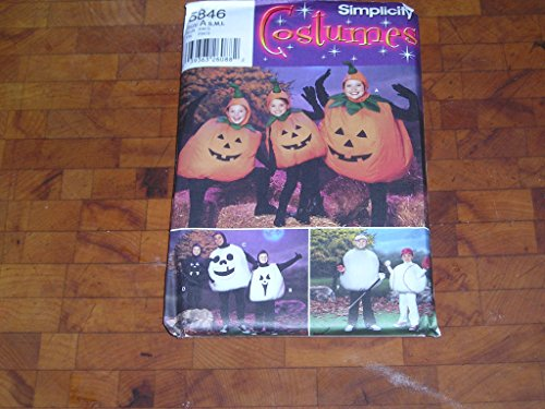 SIMPLICITY, CHILDS AND ADULTS COSTUMES, PUMPKIN, GHOST, BASEBALL, -
