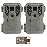 Stealth Cam PX14X P Series Digital Scouting Trail Game Camera (10MP), 2-Pack with Focus USB Reader