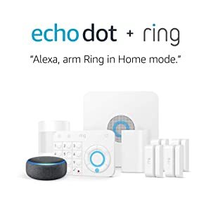 Ring Alarm 8 Piece Kit + Echo Dot (3rd Gen), Works with Alexa