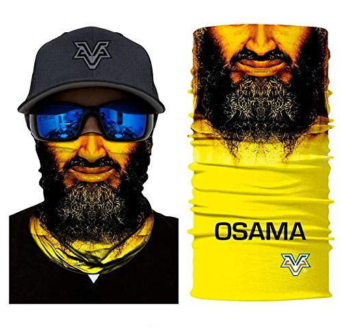 3D Osama Face Tube Neck Face Scarf Lower Half Face Mask Motorcycle Bicycle Shield Sun Air Soft Outdoor Biker Riding Masks No.80
