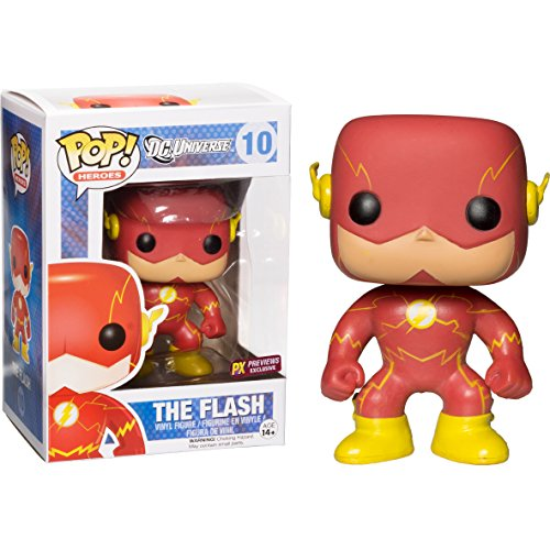 Funko The Flash [New 52] (PX Exclusive) POP! Heroes x DC Universe Vinyl Figure + 1 Official DC Trading Card Bundle [#010]