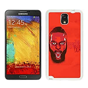 Popular And Unique Custom Designed Cover Case For Samsung Galaxy Note 3 N900A N900V N900P N900T With Houston Rockets James Harden 3 White Phone Case