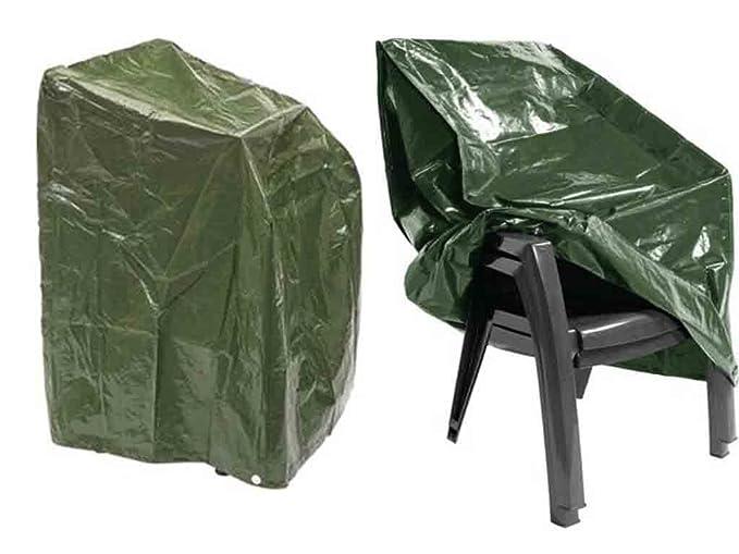 Heavy Duty étanche Outfoor empilage de meubles de jardin Housse de chaise pour jusqu'à 6chaises