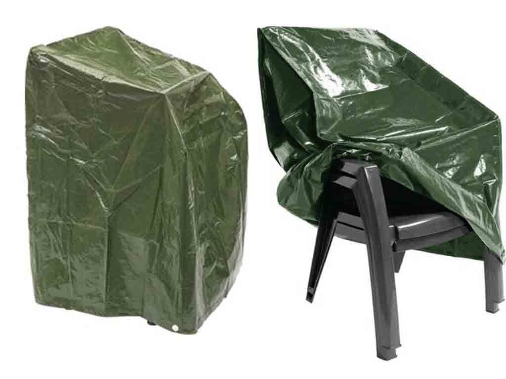 Heavy Duty Waterproof Outfoor Garden Furniture Stacking Chair Cover For Up To 6 Chairs E Bargains UK