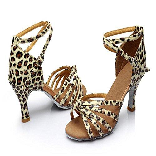 América Zapatos De Baile Zapatos De Baile Adulto Femenino Las Mujeres Con Zapatos De Cuero Blando En Adultos Un leopardo7cm