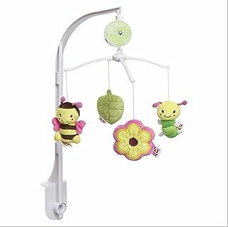JYSPORT Giostrina Musicale Giocattoli Peluche Giocattolo da Appendere a Passeggino-Culla Baby Crib con Ciondolo Rotante Giocattoli Educativi (Garden bees)
