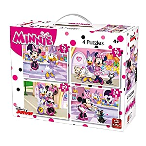 King 5254 Disney 4 In 1 Puzzle Minnie Mouse 121620pezzi 4 Puzzle In Una Valigia