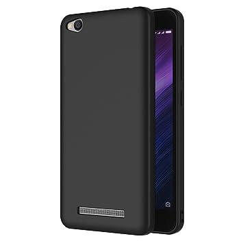 AICEK Funda Xiaomi Redmi 4A, Negro Silicona Fundas para Redmi 4A Carcasa Xiaomi Redmi 4A Negro Silicona Funda Case