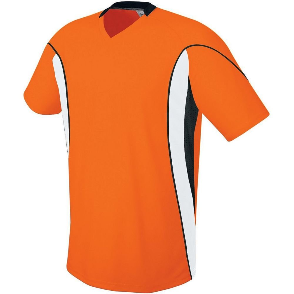 High Five Sportswear SHIRT メンズ B07C1W1L7W Small|Orange/White/Black Orange/White/Black Small
