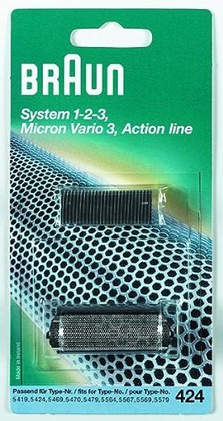 Braun - Combi-pack 424 - Láminas de recambio + portacuchillas para afeitadoras System 1-2-3/Vario/Action Line ...