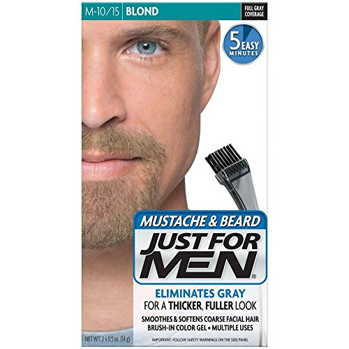 Price comparison product image JUST FOR MEN Mustache & Beard Brush-In Color Gel,  Blond M-10 / 15 1 Each (Pack of 3)