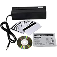 MSR606i USB Magnetic Stripe Card Reader Writer Encoder, Upgraded from MSR606, USB emulation COM, ETEKJOY
