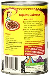 Rosarita Premium Seasoned Whole Black Beans, 15 Ounce (Pack of 12)