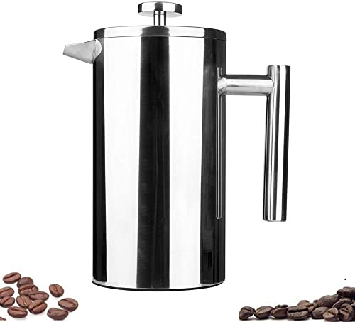 Highwin P1001-3 Small Stainless Steel Dual-Filter French Press Coffee Plunger